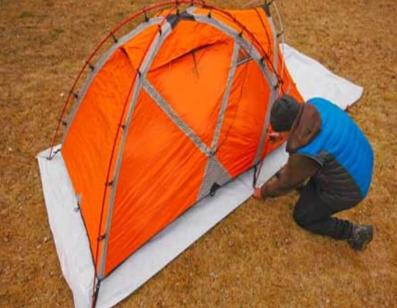 Groundsheets for camping tents